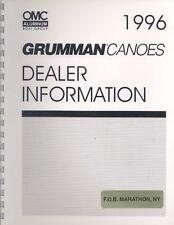 1996 Grumman Canoe Dealer Brochure na0306