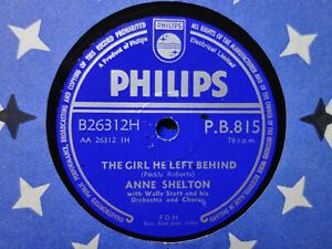 ANNE SHELTON - The Girl He Left Behind / Silv'ry Moon 78 rpm disc (A+++, 1958)