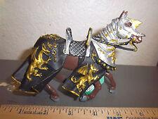 Safari, Ltd jousting Knight HORSE with Black Robe & Gold Dragon # 62030