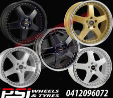 "18"" INCH SIMMONS FR1 WHEELS 18X8.5 RIMS ALLOY X4 5x114.3 5x120 HOLDEN FORD"