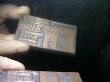 Publicité FRIGECO Ancienne Plaque Publicitaire d'Imprimerie en Métal