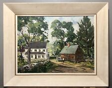 Robert Shaw WESSON New England Home Landscape Oil Canvas Painting Provenance