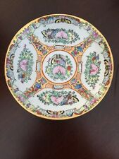Vintage Chinese's Rose Medallion Hand painted Decorative Dish