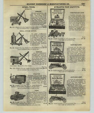 1927 PAPER AD Structo Toy Steam Shovel Tank Auto Tractor Builder Meccano Outfits