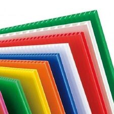 4mm Correx Fluted Corrugated Plastic Sheet 1220 x 600 *6 COLOURS TO CHOOSE*