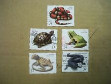 USA Used, 2003 Issue, 37 Cent Reptiles and Amphibians, (Set of 5)
