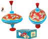 METAL CAROUSEL HUMMING TOP Traditional RAINBOW Tin Kids Fun Spin Toy T04598 UK