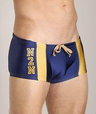 N2N Bodywear Mens C7 University Navy Blue Swim Trunk Nylon/Spandex - Size L NWT