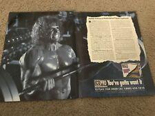 1992 THE ULTIMATE WARRIOR ICO PRO Poster Print Ad BODYBUILDING PROGRAM WWF RARE
