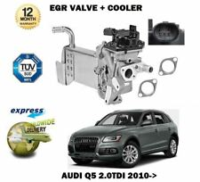 FOR AUDI Q5 2.0 TDI 2010--> NEW ELECTRIC EGR VALVE + EXHAUST GAS COOLER
