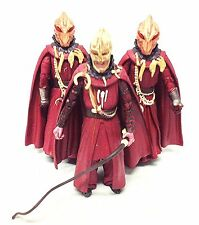 """BBC 1 TV DOCTOR WHO - SYCORAX aliens 6"""" toy action figure set of  3"""