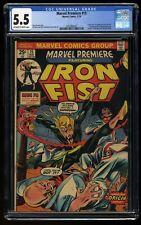 Marvel Premiere #15 CGC FN- 5.5 Off White to White 1st Iron Fist!
