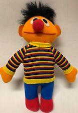 "Sesame Street GUND 11"" Ernie Soft Plush Toy Orange Stripe Vintage"