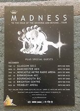 MADNESS To The Edge Of The Universe & Beyond...UK Arena A5 tour Flyer