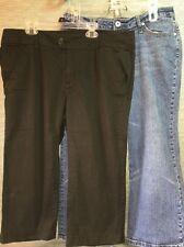Blue Epic Black Vanilla Jean Blue Capris Pants Women's 14