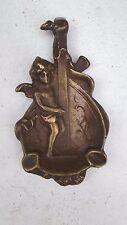 ART NOUVEAU STYLE OLD VINTAGE BRONZE CHERUB ANGEL WITH LYRE ASHTRAY