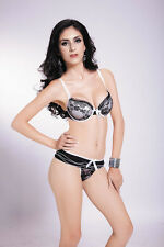 NEU BH Set Push-Up BHs Dessous Bügel-BH Slip Wäsche Underwear Damen Cup 75 80 B
