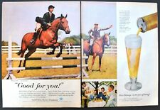 1958 Beer Belongs Horse Show Vtg Print AD US Brewers Foundation Good For You!
