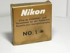 NIKON CLOSE-UP No.1 52mm Screw Camera Lens Filters