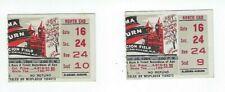2 1964 Auburn vs Auburn Iron Bowl Football Ticket stubs Excellent Condition