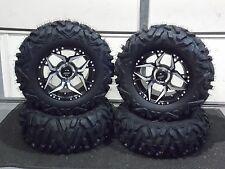 "YAMAHA WOLVERINE R-SPEC  27"" QUADKING 14"" SHOCKER ATV TIRE & WHEEL KIT IRSL8"