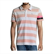 NEUF polo DIESEL 55DSL rose blanc taille L tee shirt été tshirt chemise rugby