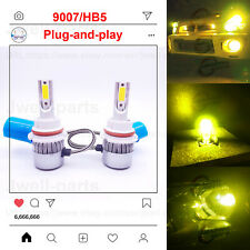 2020 NEW 9007 HB5 LED Headlights Bulbs Conversion Kit 50W 4500LM 3000K Yellow