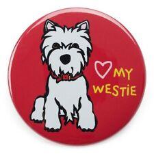 "*NWT* Marc Tetro - Heart my Westie Red Magnet 3"" Round West Highland Terrier"