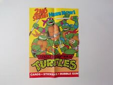 Vintage 1990 Topps TMNT Series 2 Bubblegum Cards Display Poster, Memorabilia