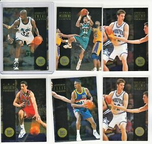 90's INSERTS COMPLETE SET 1993-94 SKYBOX ALL-ROOKIE TEAM AR1-5 + NO#  SHAQ ZO
