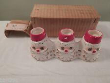 Vintage 1958 Holt Howard Starry Eye Santa Trio Candle Holder Japan Christmas IB