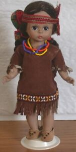 Madame Alexander POCAHONTAS Doll & Papoose 1960-70 w Stand