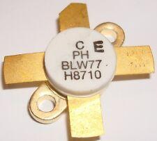 BLW77  RF POWER TRANSISTORS  130W 28V  1.6-28MHz GOLD  Made In Holland