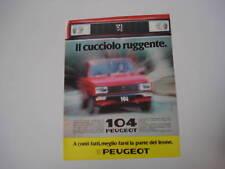 advertising Pubblicità 1982 PEUGEOT 104