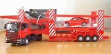 DIE CAST METAL TOYS 1:43 SCANIA double CAR TRANSPORTER MODEL car model car toy