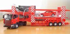 DIE CAST METAL TOYS 1:43 SCANIA double CAR TRANSPORTER MODEL car model car toy