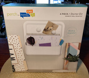 Perch Honey Can Do 4 Piece Magnetic Wall Mount Multi-Use Organizer/Planter by 3M