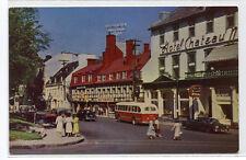 Place d'Armes Ste Anne St Bus Cars Quebec Canada 1950s postcard