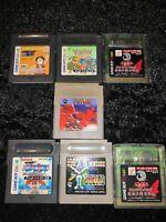 ⭐ Lot Tetris 7 Jeux Nintendo Game Boy GB Japan Jap Ntsc-J 🎌⭐