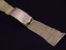 """Vintage Watch Band JB Champion 22mm 7/8"""" Yellow Gold Filled Deployment Clsp Mens"""