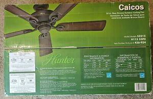 Hunter Indoor/Outdoor Ceiling Fan 52 in. 3-Speeds Reversible 2-Position Mount