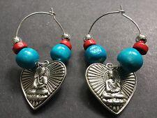 Bijoux Buddha Heart charm Interchangeable Earrings boho Festival Gypsy