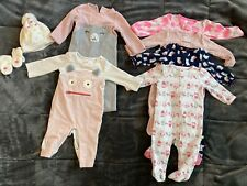 6-9 Month Clothing Lot / Gap, Carter's Pajamas, Rompers, Hat/gloves