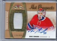 2015-16 FLEER SHOWCASE MIKE CONDON ROOKIE AUTO JERSEY PATCH /499 #159 PD