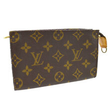 LOUIS VUITTON BUCKET PM PURSE ATTACHED POUCH PURSE MONOGRAM CANVAS A52332b
