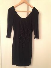 Review Australia 3/4 Sleeve Ruffled Dress in Black Size 8