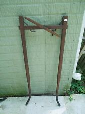 Antique Primitive Dog Sled / Wagon Shaft Harness Dog Sledding Wooden Harness