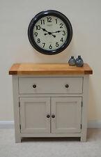 Swainswick Stone Grey Painted Oak Mini Sideboard / Compact Storage Dresser