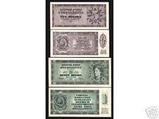 YUGOSLAVIA 5 10 DINARA P67 R + S 2 Pieces 1950 UNC BANK NOTE SERBIA MONEY SET