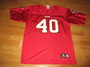 Reebok NFL MIKE ALSTOTT No. 40 TAMPA BAY BUCCANEERS (Size 18-20 Youth XL) Jersey